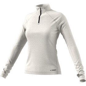 adidas TERREX Trace Rocker 1/2 Zip LS Shirt Women raw white